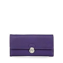 The Collection - Purple push lock large purse