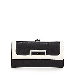 The Collection - Black colour block large purse