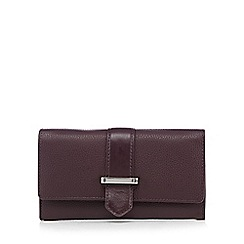 The Collection - Purple leather bar fitting large purse