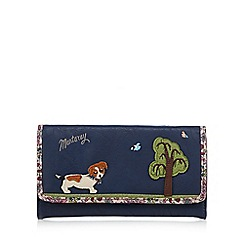 Mantaray - Navy large dog walk flapover purse