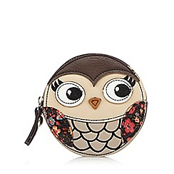 Mantaray - Brown round owl coin purse
