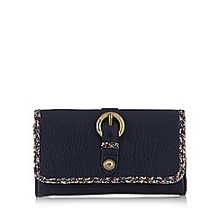 Mantaray - Navy buckle detail large purse