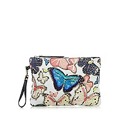 Mantaray - Navy sequin butterfly clutch bag