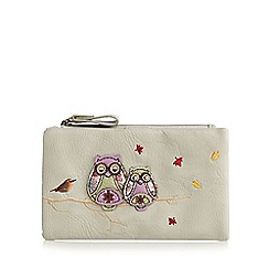 Mantaray - Grey applique owls medium purse
