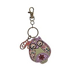 Mantaray - Purple owl keyring