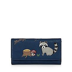 Mantaray - Navy racoon fold over purse