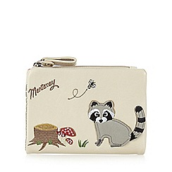 Mantaray - Cream soft racoon purse