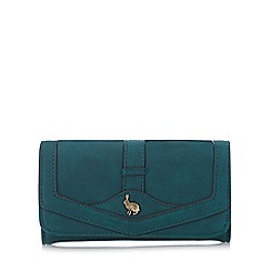 Mantaray - Turquoise hare stud large purse
