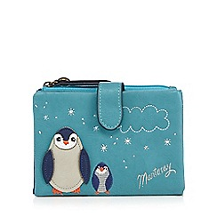 Mantaray - Turquoise applique penguins medium purse