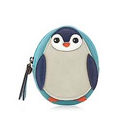 Mantaray - Turquoise penguin coin purse