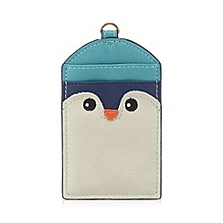 Mantaray - Turquoise penguin card holder