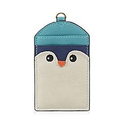 Mantaray - Turquoise penguin card holder