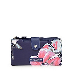 Bailey & Quinn - White large floral flap-over purse
