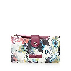 Bailey & Quinn - Dark pink floral tab over purse