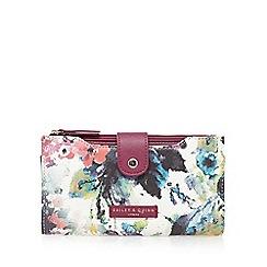 Bailey & Quinn - Dark pink floral tab over purse
