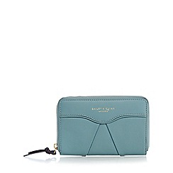Bailey & Quinn - Pale green leather pleated medium purse