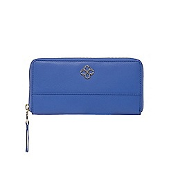 Bailey & Quinn - Blue leather zip around purse