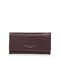Bailey & Quinn - Dark red croc-effect flap over large leather purse