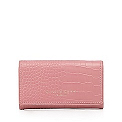 Bailey & Quinn - Light pink leather croc-effect purse