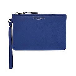 Bailey & Quinn - Bright blue leather large coin purse