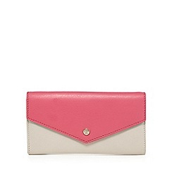 Bailey & Quinn - Grey and pink large leather envelope purse