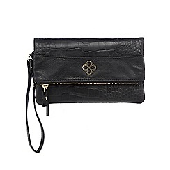 Bailey & Quinn - Black zip flap over large leather purse