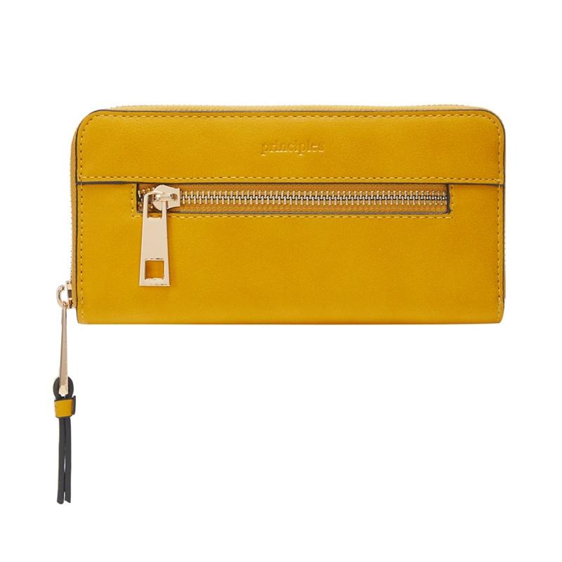 Principles Yellow Large Zip Purse - One Size - Purses (9123791 5045481430330) photo