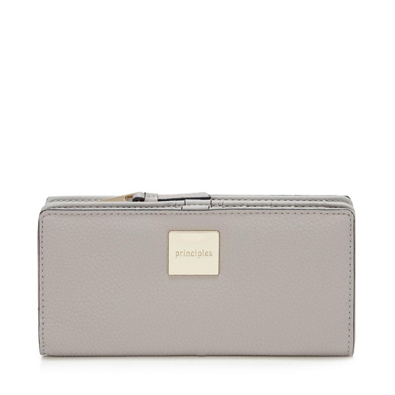 Principles Grey 'Pippa' Large Zip Around Purse - One Size - Purses (9123793 5045481430354) photo