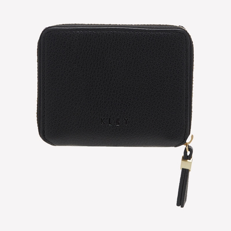 KLEY Black Faux Leather 'Bailey' Small Purse - One Size - Purses (9115552 5045481347904) photo
