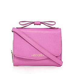 Floozie by Frost French - Pink bow handle cross body bag
