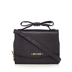 Floozie by Frost French - Black bow handle cross body bag