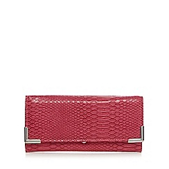Red Herring - Pink snakeskin metal large purse