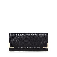 Red Herring - Black snakeskin metal large purse