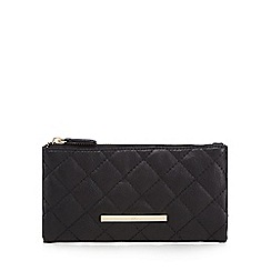 Red Herring - Black quilted fold over large purse