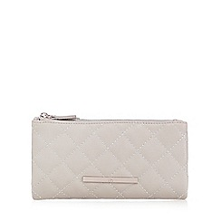 Red Herring - Grey quilted fold over large purse