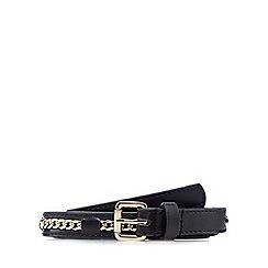 Red Herring - Black chain insert skinny belt