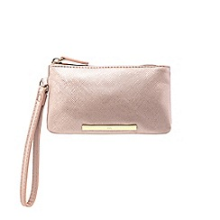 Red Herring - Light pink bar wristlet