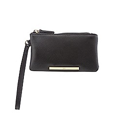 Red Herring - Black bar wristlet