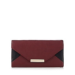Red Herring - Dark red colour block envelope purse