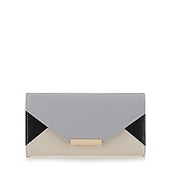 Red Herring - Grey colour block envelope purse