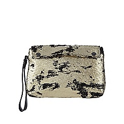 Todd Lynn/EDITION - Gold foiled wristlet bag