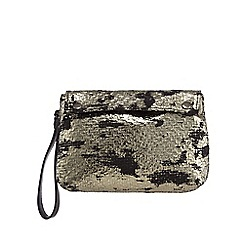 Todd Lynn/EDITION - Silver foiled wristlet bag