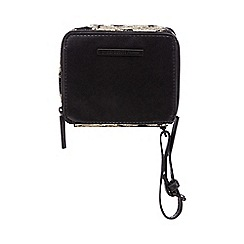 Todd Lynn/EDITION - Black gold trim wristlet