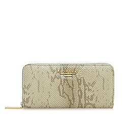 Fiorelli - Light grey 'Sarah Jane' mock snakeskin zip around purse
