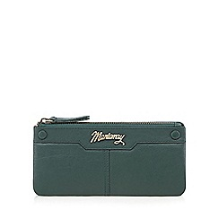 Mantaray - Green leather stud detail large purse