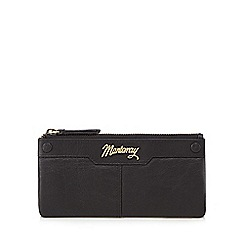 Mantaray - Black leather stud detail large purse