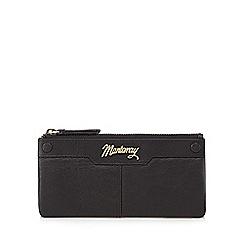 Mantaray - Black leather stud detail large purse