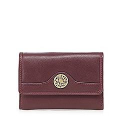 Mantaray - Purple leather floral charm purse