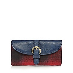 Mantaray - Navy checked large purse