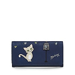 Mantaray - Navy applique cat large purse